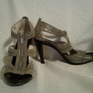 WO Michael Kors Berkeley Python Leather Sandal-8.5